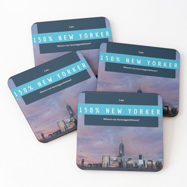 New Yorker Coasters (Set of 4)