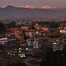 Sunset in Charikot by Peter Hammer