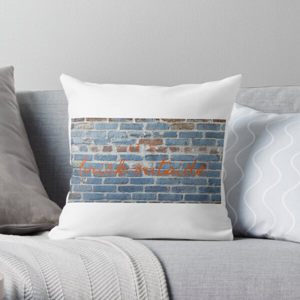 It's Brick. Throw Pillow