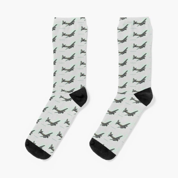 Plane over Kettering  Socks