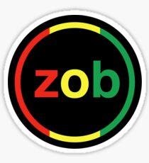 Zob Glass Sticker (Rasta) Sticker