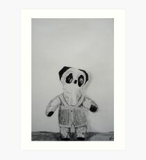 Knitted Overalls Art Print