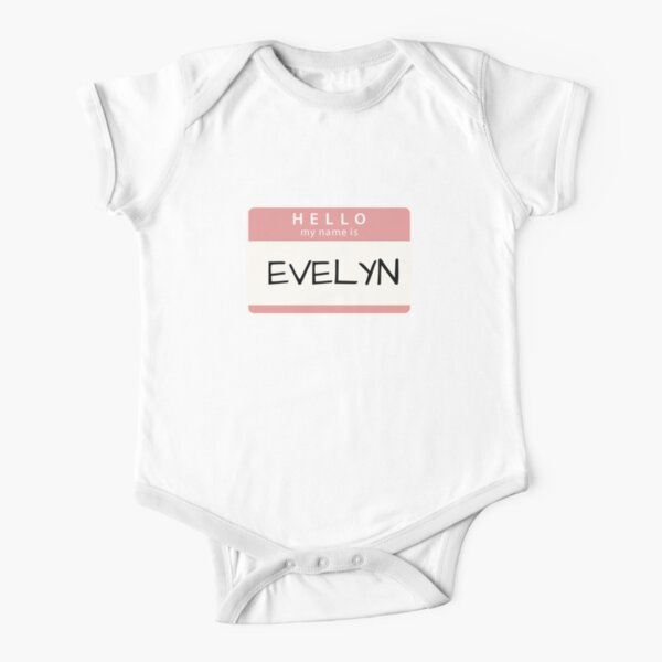 Personalized Name Toddler//Kids Short Sleeve T-Shirt Mashed Clothing Evelyn