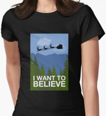 I Want to Believe Women's Fitted T-Shirt