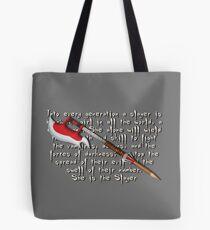 Buffy Slayer Scythe Tote Bag