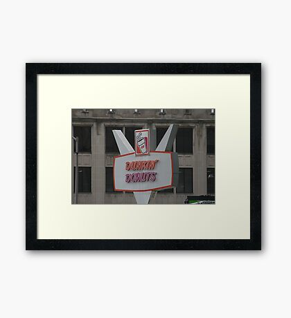 Double D Framed Print