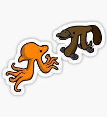 Octopi VS Platypi Sticker