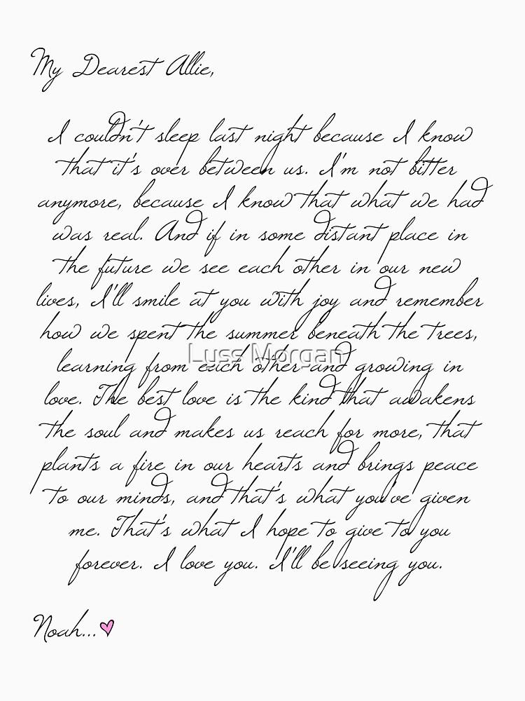 Dear Allie - a letter from Noah by AlyssaSbisa