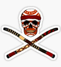 Skull and Crossed Didgeridoo Sticker