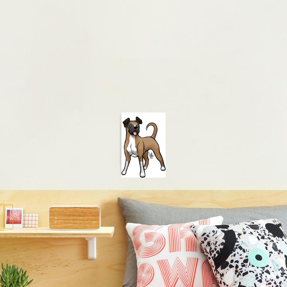 Boxer - Fawn Natural Photographic Print