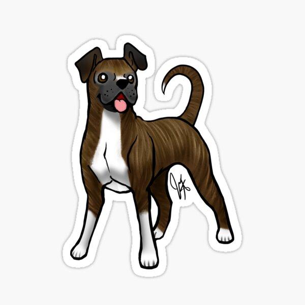 Boxer - Brindle Natural Sticker