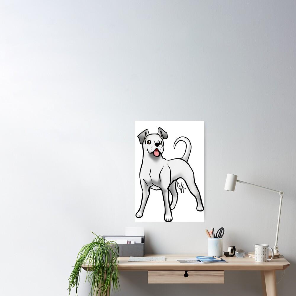 Boxer - White Natural Poster