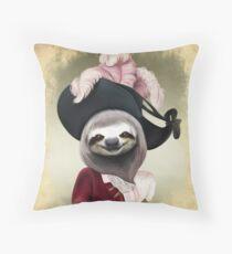Cojín Retrato aristocrático del estilo de la pintura al óleo de Lady Sloth