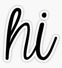 Hi Sticker