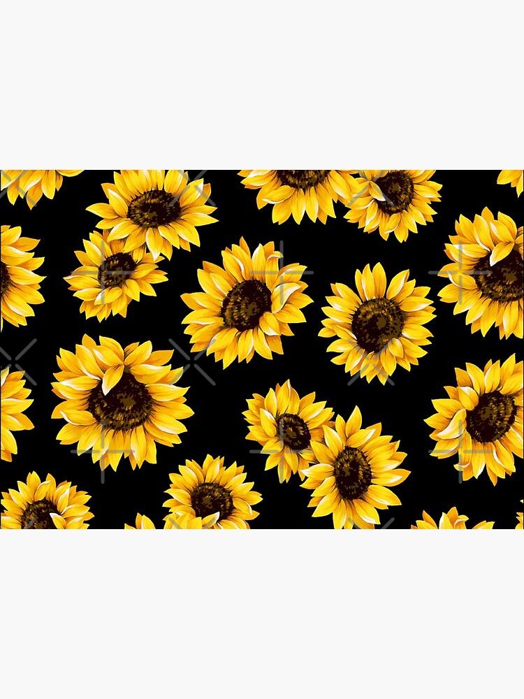 Sonnenblumen Blumenmuster - gelbe Blume von Rakeshmurugan