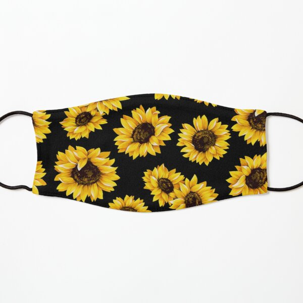 Sun flowers floral pattern - yellow flower Kids Mask