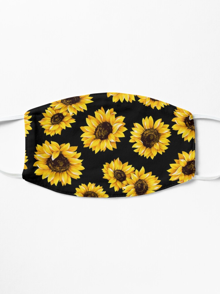 Alternate view of Sun flowers floral pattern - yellow flower Mask