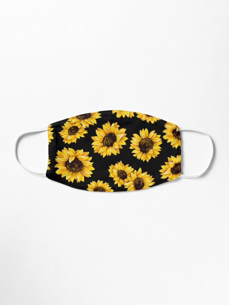 Alternative Ansicht von Sonnenblumen Blumenmuster - gelbe Blume Maske