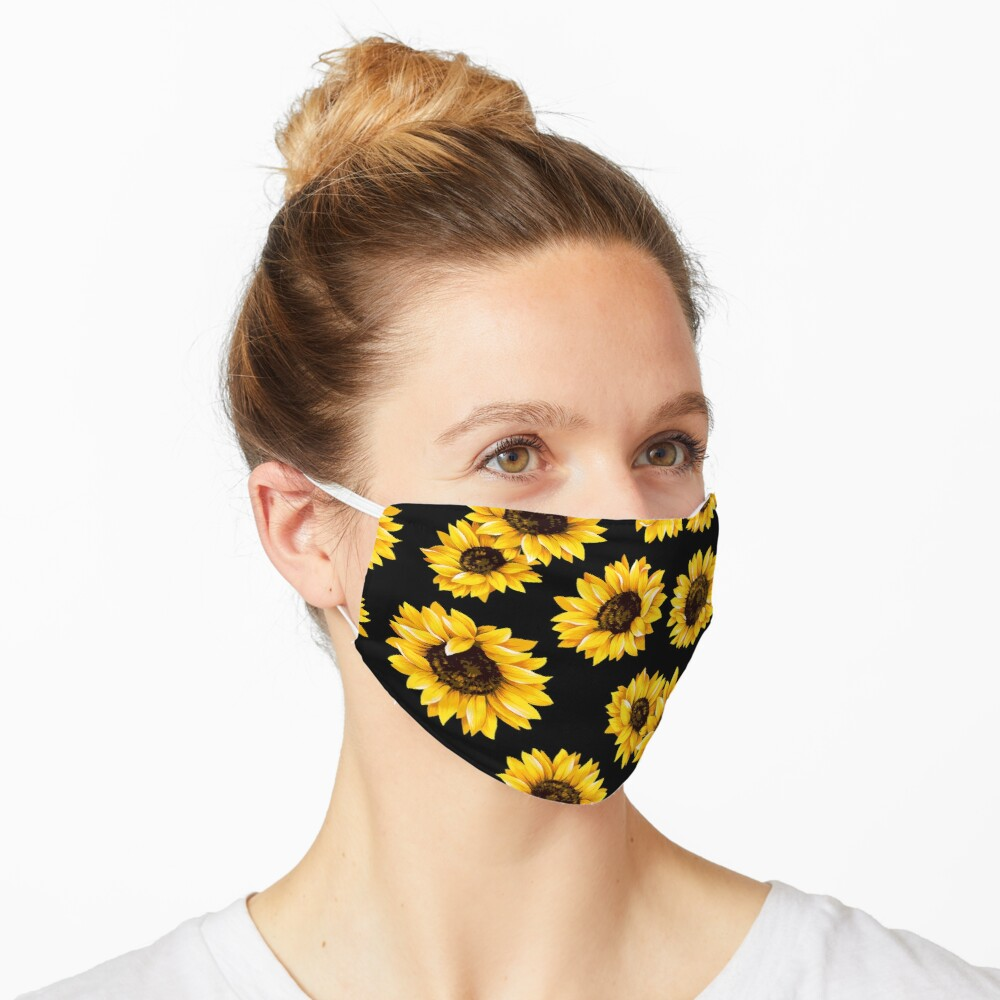 Sonnenblumen Blumenmuster - gelbe Blume Maske