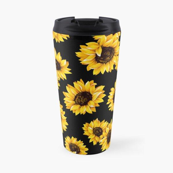 Sun flowers floral pattern - yellow flower Travel Mug