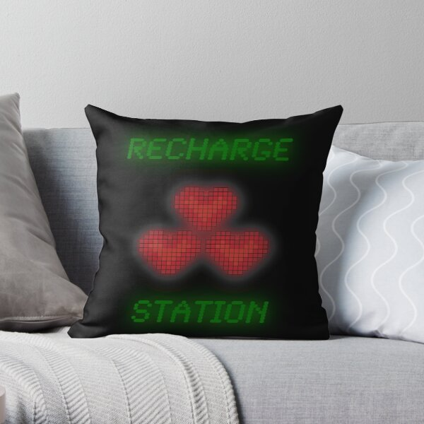 Recharge Station Throw Pillow