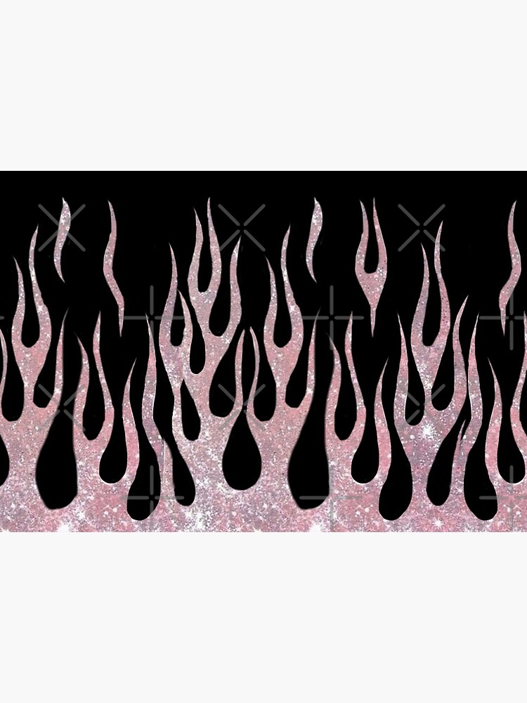 Pink Glitter Flames by jellybabie