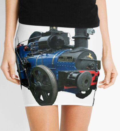 Blue Circle  Mini Skirt