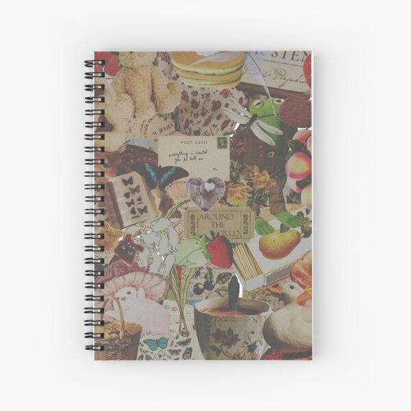 Cottagecore Collage Spiral Notebook