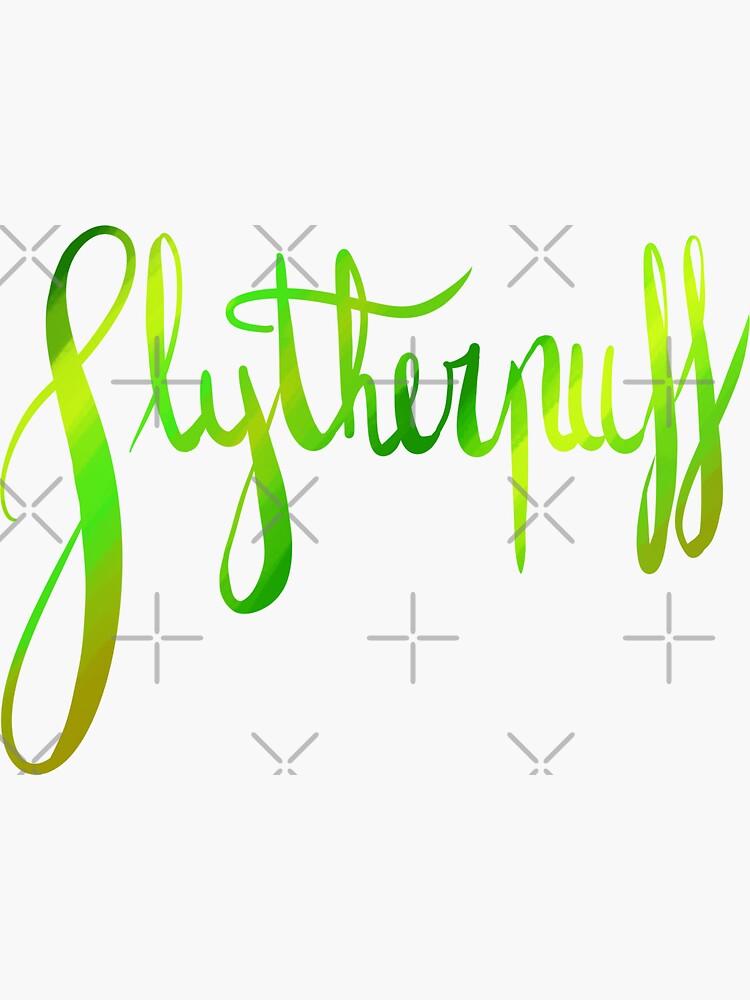 Slytherpuff Galligraphy by Zorume