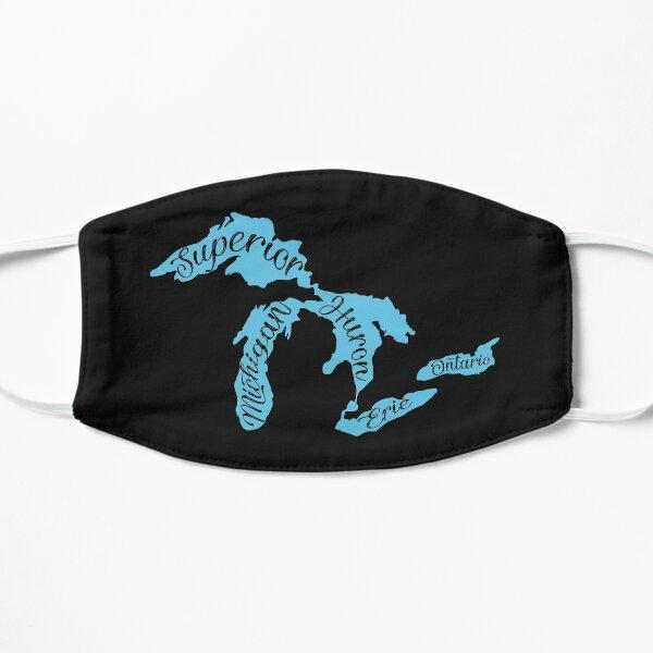 Great Lakes of Michigan Flat Mask