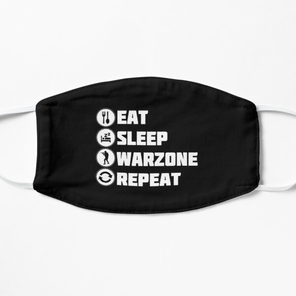 Eat Sleep Warzone Repeat Flat Mask