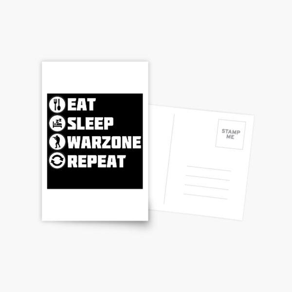 Eat Sleep Warzone Repeat Postcard