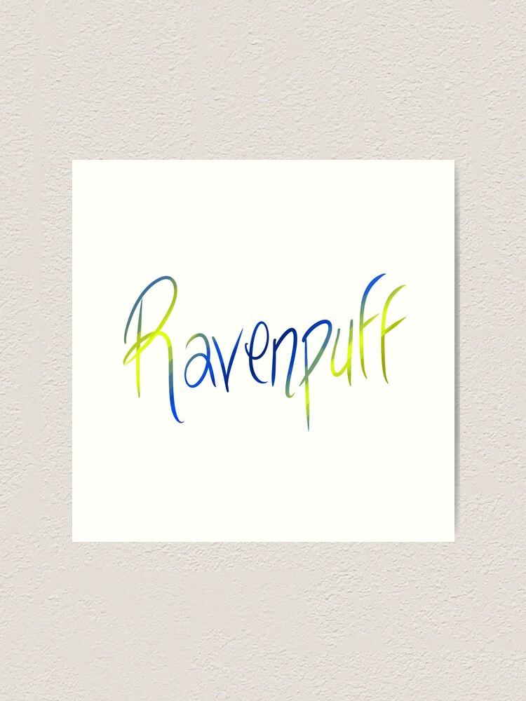 Alternate view of Ravenpuff Galligraphy Art Print