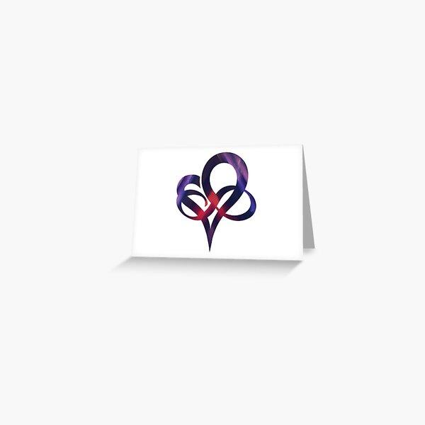 INFINITY HEART - Polyamory Symbol - Polyfidelity Greeting Card