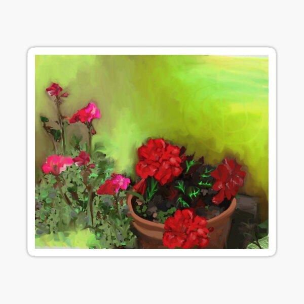 Begonia and Geranium Sticker