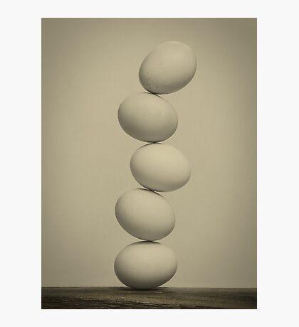 Balancing Eggs Photographic Print