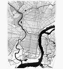 Philadelphia OpenStreetMap Poster Poster