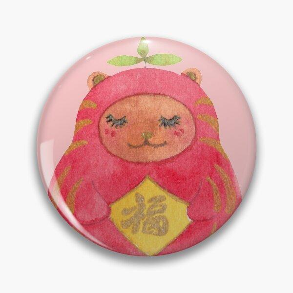 Kuma Daruma - Goodluck Bear Pin