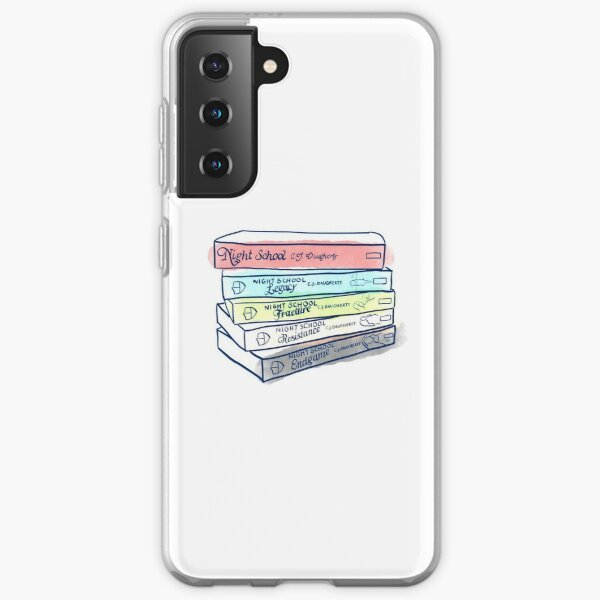 Night School Book Stack Samsung Galaxy Soft Case