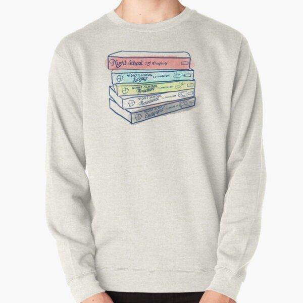 Night School Book Stack Pullover Sweatshirt