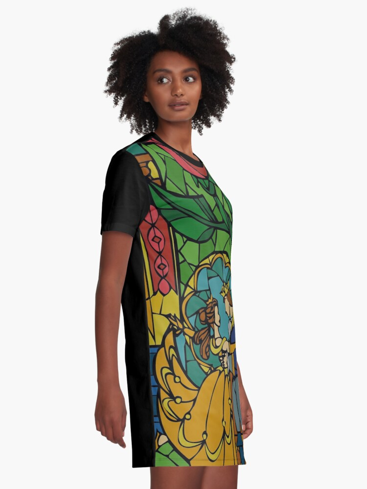 Alternate view of Beauty and The Beast - Stained Glass Graphic T-Shirt Dress