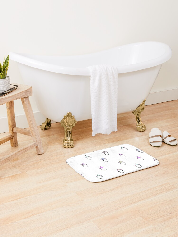 Adopt Me Roblox Bathroom Ideas Magical Unicorn Pattern Bath Mat By Theresthisthing Redbubble