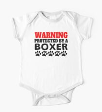 Protected By A Boxer One Piece - Short Sleeve