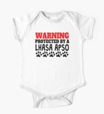 Protected By A Lhasa Apso One Piece - Short Sleeve