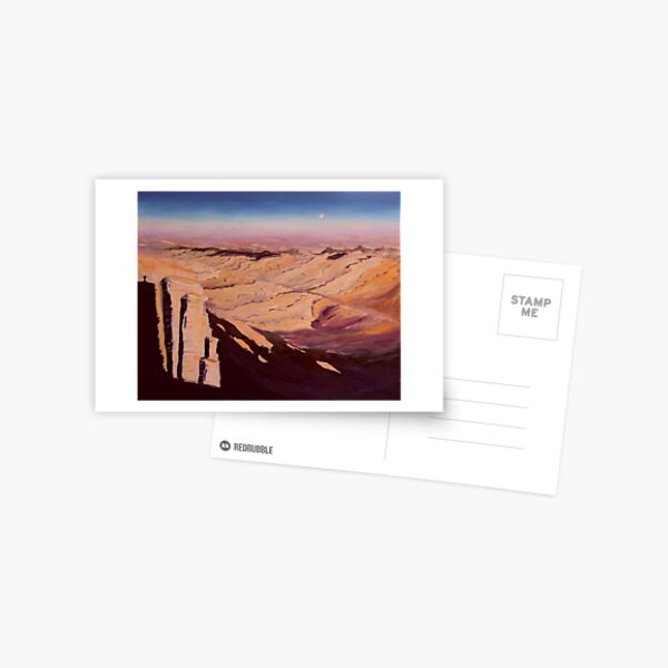 Israel Wüste Negev Gemälde Postkarte