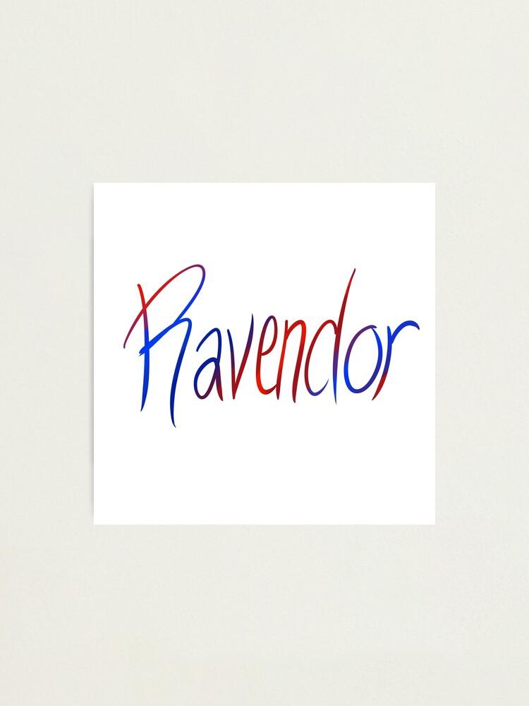 Alternate view of Ravendor Galligraphy Photographic Print