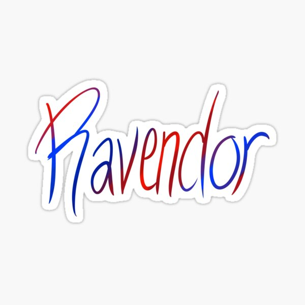 Ravendor Galligraphy Sticker