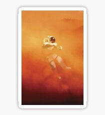 Astronaut in a Dust Storm Sticker