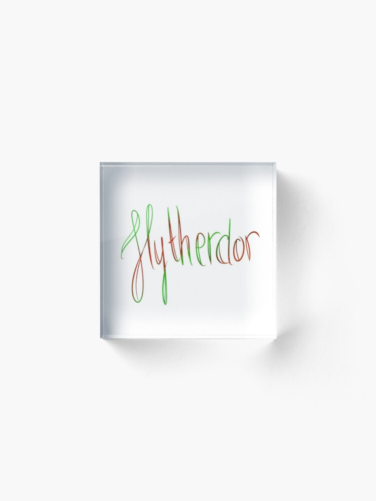 Alternate view of Slytherdor Galligraphy Acrylic Block