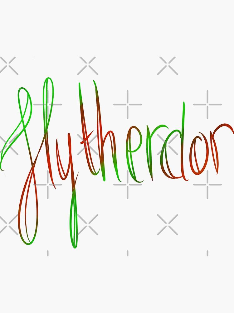 Slytherdor Galligraphy by Zorume
